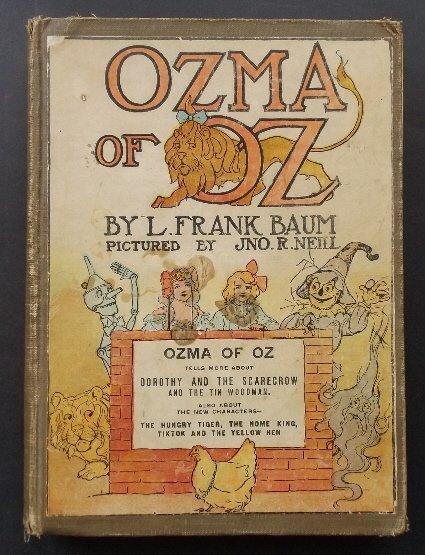 Baum, Ozma of Oz,1922 Pr Color ill. Neill, Reilly & Lee
