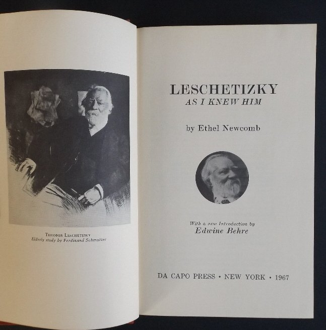 Newcomb, Leschetitzky as I Knew Him, 1967