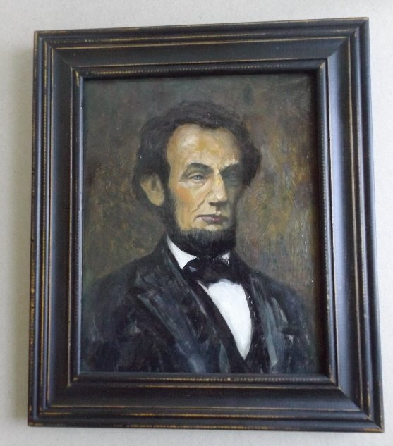 Portrait of President Lincoln, Oil Painting VA artist