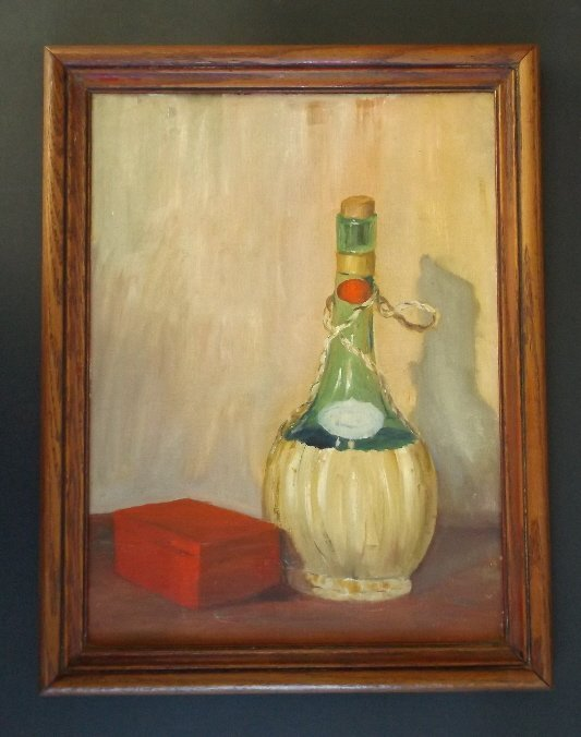 Adilone, Still Life, Oil Painting 1960s Mid Century