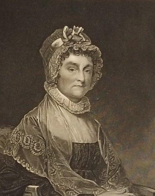 Abigail Adams, wife of John Adams, engraving 1870s