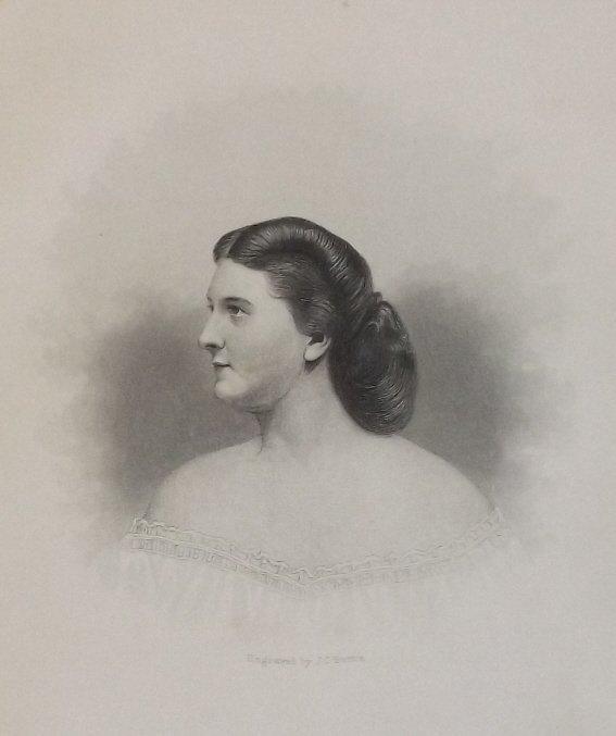 Harriet Lane Johnston, James Buchanan, engraving