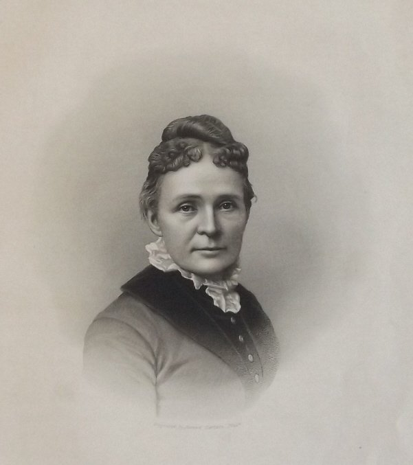 1st Lady Lucretia Rudolph Garfield, engraved by Sartain