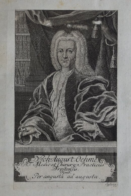 German Physician, Johann August Oehme, by Sysang 1735