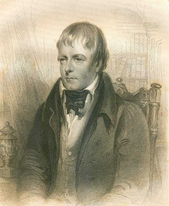 Walter Scott, Engraved by Robinson after Gordon 1855