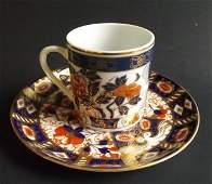 Davenport Staffordshire porcelain Cup  Saucer 1870s