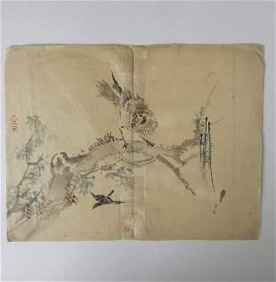 Kazan Watanabe, Sparrowhawk, 1stPrint 1911 Woodblock