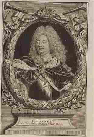 Georg Paul Busch, John V King Portugal 1730s engraving