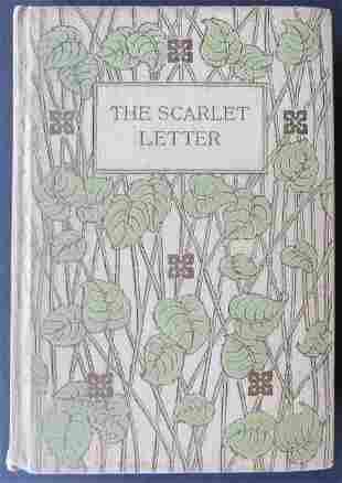 Hawthorne, Scarlet Letter 1890s Art Nouveau Altemus Ed.