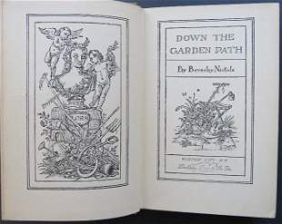 Nichols, Down the Garden Path, 1stUS Ed. 1932 illustrat