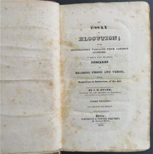 Dwyer, Elocution with Essays by Different Authors, 1829