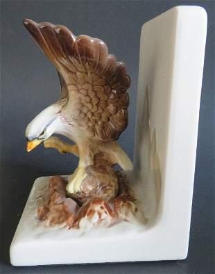 Otagiri Porcelain Eagle Bookend San Francisco 1960s