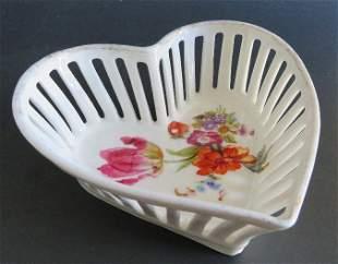 Art Nouveau Heart Shaped Porcelain Dish, 1900s Bavaria