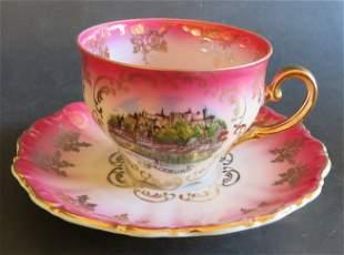 Austrian Baroque, porcelain cup saucer, Salzburg 1950s