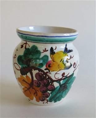 Italian Hand Painted Ceramic Jar, Vase 20th Century