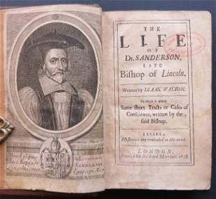 Walton, Dr Sanderson Bishop of Lincoln 1stEd 1678 ill.