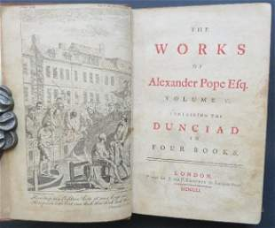 Alexander Pope, Dunciad 1stEd 1751, illustrated Hayman