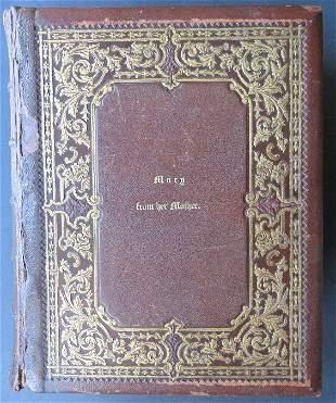 Holy Bible Civil War Era Harding 1863 Illustrated