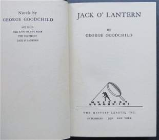 Goodchild, Jack O Lantern, Mystery, 1st Edition 1930