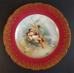 Roman Goddess Juno Limoges Porcelain Plate sign Moville