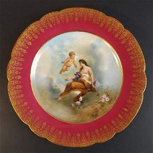Goddess Chloris, Flora Limoges Porcelain Plate Moville