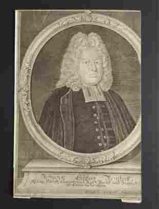 Johann Gustav Reinbeck 1733 engraved Johann Wolfgang
