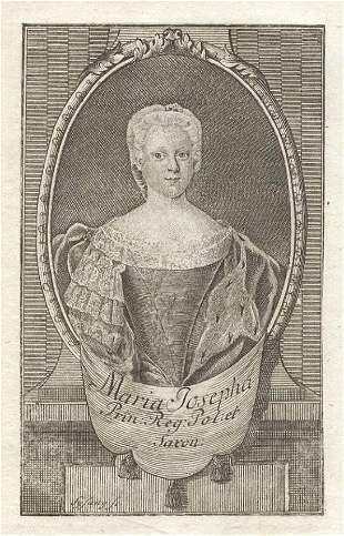 Princess Maria of Austria, Saxony Queen of Poland 1720s