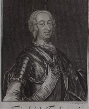 Count Friedrich Ferdinand, 1750 engraving Bernigeroth