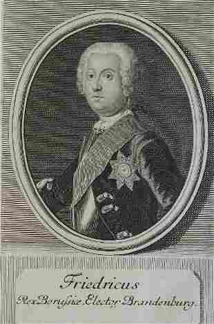 King Frederick the Great Prussia 1743 by Bernigeroth