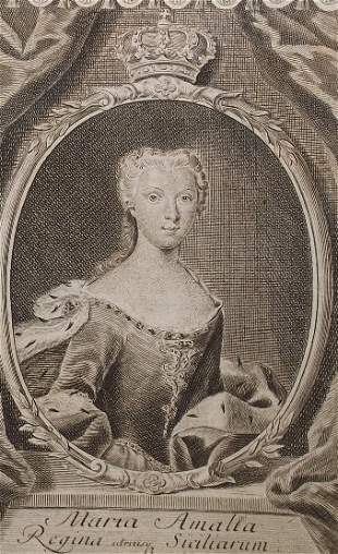 Maria Amalia, Saxony Queen of Spain Naples Sicily 1740s