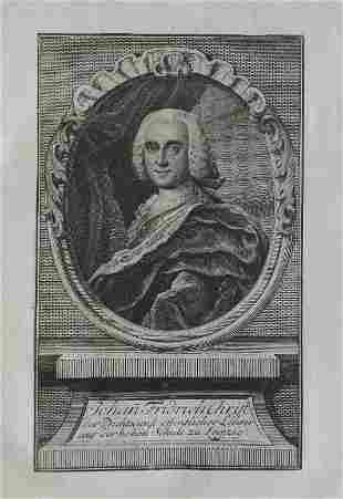 Johann Friedrich Christ, German Historian, 1756 Sysang