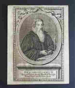 Polykarp Leyser, writer, engraving Moritz Bodenehr 1685