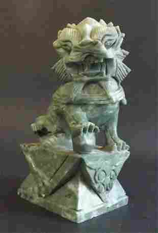 Foo Dog Imperial Guardian Lion figure hand carved China