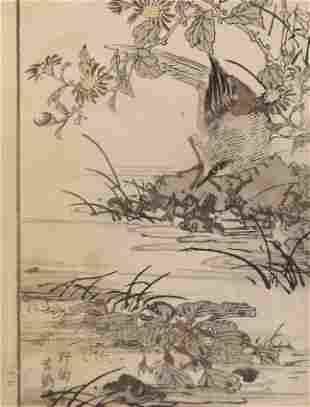 Yukoku Matsui, Water Chestnut, Wagtail 1stPrint 1901