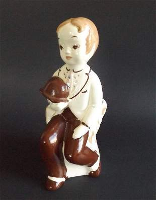 De Lee Porcelain Figurine, 1949 Art Vase