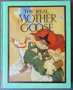 Fisher Wright, Real Mother Goose 1stEd. 1942 Print