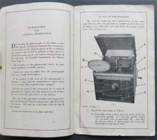 Edison Phonograph Diamond Disc Instruction Booklet 1912