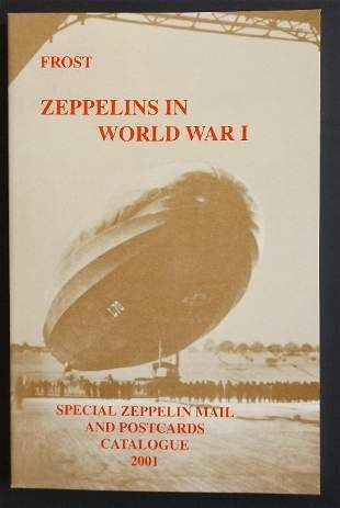 2 Catalogs Airship Mail Flights Postcards WWI Zeppelin