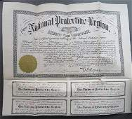 Large National Protective Legion archives 1901-1910s