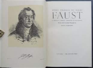 Goethe, Faust, Delacroix Lithographs, 1959