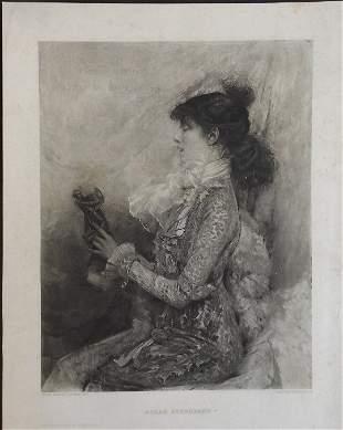 Jules Bastien-Lepage, Portrait of Sarah Bernhardt 1881