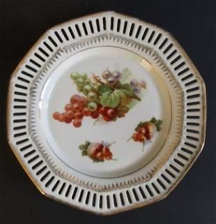 Bavarian Reticulated Pierced Plate Carl Schumann 1890