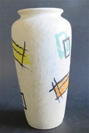 Abstract German Lava Glaze Vase 1960s pottery