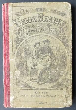 Sanders Union Reader Number 1 Civil War Era 1stEd 1861