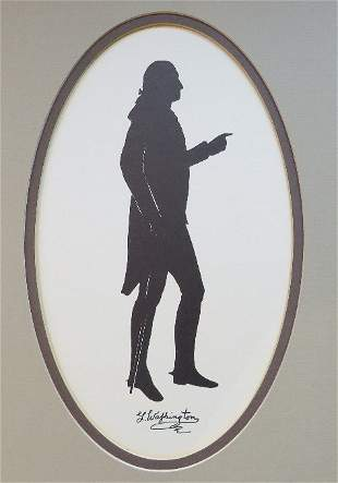 George Washington, Silhouette of Houdon Statue