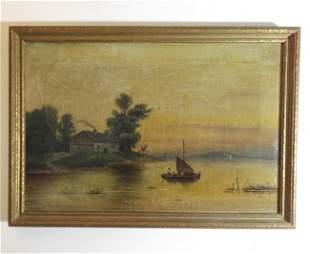 Gardner, Twilight Before the Sunrise 1876 Oil Painting