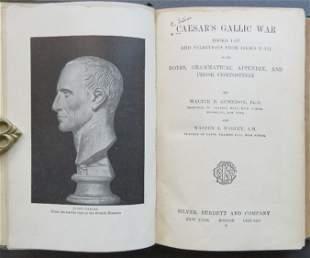 Caesar, Gallic War, Study Ed. Gunnison 1907 1st illustr