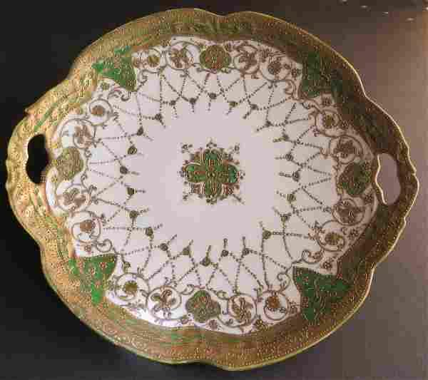 Maple Leaf Nippon Large Porcelain Platter 1900s-1910s