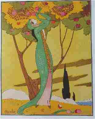 Redfern 1913 Formal Dress, Charles Martin Art, Poster
