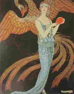 Gustave Beer, 1922 Evening Dress Sorcery, G Barbier